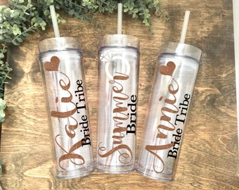 Personalized Bridesmaid Gift, Wedding Tumbler, Bridesmaid Tumbler, Bride Tumbler, Bachelorette Tumbler, Personalized Gift