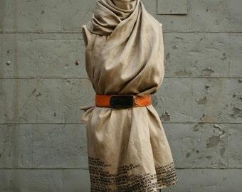 050 Linen Scarf Womenswear Printed Long Scarves, Fashion Accessories, Wraps Shawls