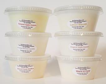 Wax Melt Sampler Pack - Set of Six Wax Melt Samples - Scented Wax Melts - Fall/Bakery Wax Melts - Scent Shots - Wax Tart Samples - Wax Shots