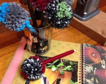 PomPom Pens made to order Perfect gift or Party Favor.