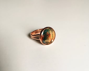 galaxy stone rings,STATEMENT RING,resin jewelry,gifts under 15,modern jewelry,minimalist ring,modern rings,resin ring,gift for her