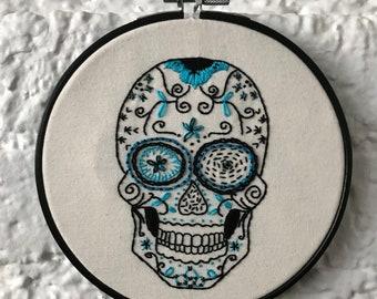 Skalle   Sugar Skull   Day of the Dead Art   Embroidery Art   Sampler