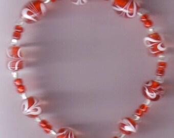 Red Swirl Bracelet