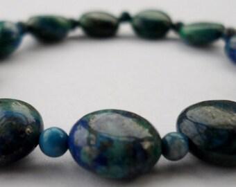 Chrysocolla gemstone bead s t r e t c h bracelet