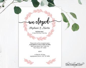 eloped, printable we eloped, eloped wedding, just eloped, we eloped card, elopement ideas, elopement invite, we eloped, elopement cards, 008