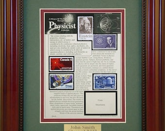 Physics/Physicist 5062 - Personalized Framed Collectible (A Great Gift Idea)