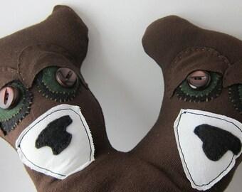 Two headed bear stuffed bear toy plush teddy bear