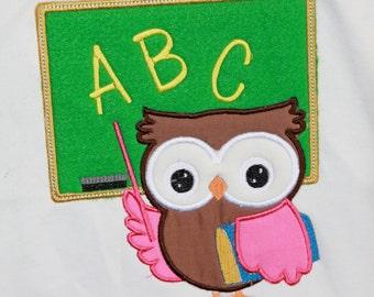 Teaching Owl Applique