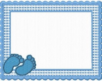Embroidery pattern for a framework for baby 4 x 4 format