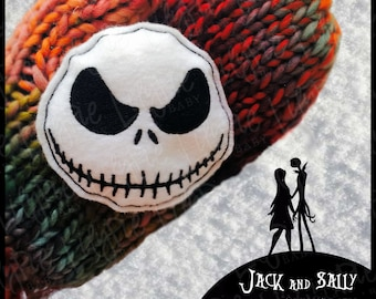 Nightmare Before Christmas [Inspired] Hand Warmers (Set of 2) --> Jack and Sally - Portable Warmth - Pocket Warmers - Stocking Stuffer