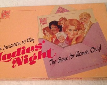 Vintage Board Game Ladies Night The Game For Women Only 1986 Maruca Complete Unusual