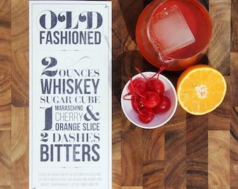 Old Fashioned Recipe Typographic Design for Print