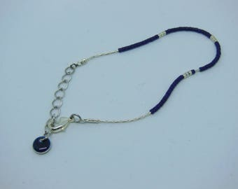 Midnight Blue bracelet - Miyuki beads
