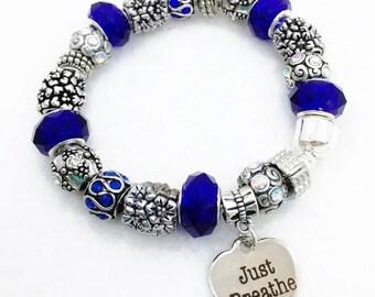 Just Breathe Charm Bracelet