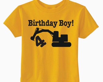 Birthday Construction T-shirt, Excavator Party Ideas, Birthday Party Shirts For Boys And Girls, Construction Party, Unique Gifts