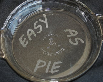 Etched Glass Pie Pan, Pie Pan