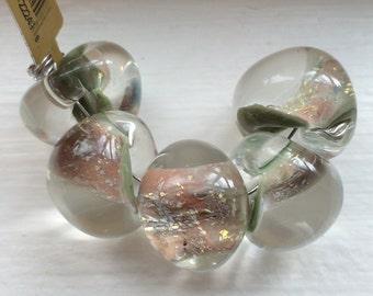 5 Jumbo Teardrop Handmade Lampwork Beads - 17 mm  (22249)