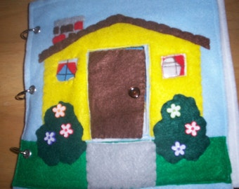 Dollhouse Book - childrens books - Quiet book - Portable - busy book - felt dollhouse - take along dollhouse - activity book - pretend play
