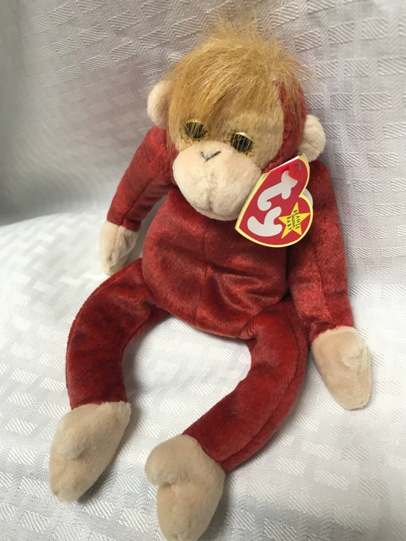 TY Beanie Baby Schweetheart The Monkey Born January 23 1999 b75ccd992f