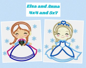 Frozen Embroidery Design instant download machine embroidery designs applique design anna elsa disney princess embroidery file pattern pes