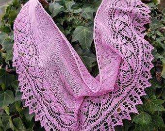 Mori Girl Pink Linen Shawlette by AmigurumiPalooza