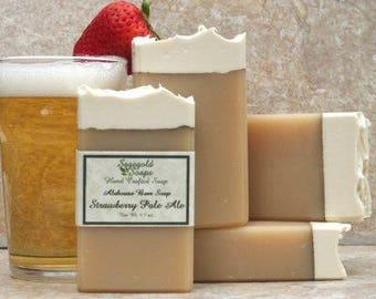 Strawberry Pale Ale Handmade Artisan Beer Soap