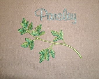 On Sale Parsley Herb Embroidered Kitchen Towel Country Home Decor
