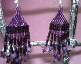 Plum Swirl Earrings, reduced to almost half price, 23 to 12!