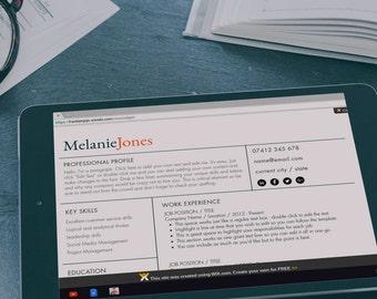 Resume Template / Resume Website / Wix Template
