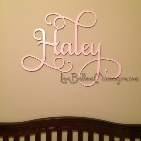 Wooden Name Sign Wall Hanging Letters for Nursery or Bedroom
