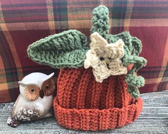 Crochet Pumpkin Hat for Girl, Cozy Pumpkin Hat Crochet Gift, Pumpkin Crochet Hat. Handmade Crochet Pumpkin Hat For Girls Crochet Hat Pumpkin