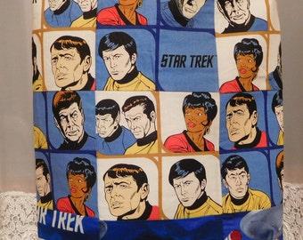 Star Trek Original Series Themed Tote Handbag Kirk Spock Scotty Uhura Bones Sulu Chekov Handmade