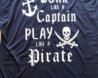 Captain / pirate tee