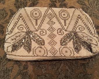 Vintage 1920s-1930s Handbeaded Evening Bag