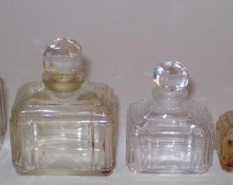RARE Vintage Caron Bellodgia Perfume Bottles Lot of 5 Various Sizes Baccarat?