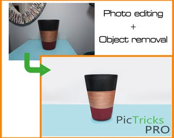 Object Removal + Photo editing [ Photoshop / Photo editing / Photo enhance / Clipart ] photo editing service