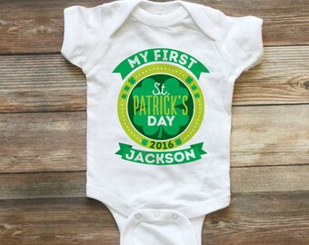 My First St Patricks Day Shirt - Kids 1st St Patricks Day T Shirt - Personalized St Patricks Day Baby Bodysuit - St Patricks Day Baby Outfit