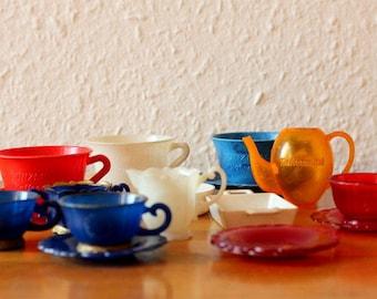 Günzburg coffee substitutes dolls tea service Dinnerware collector vintage