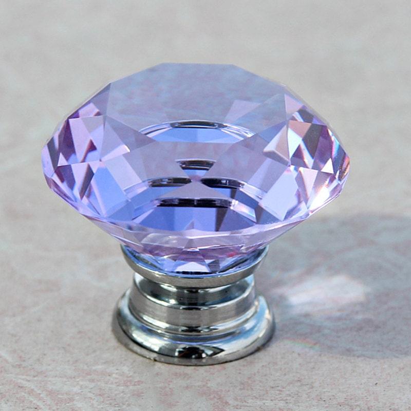 purple crystal door knobs