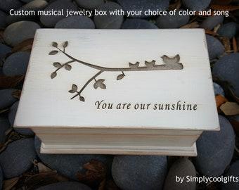 wedding gift box, musical jewelry box, mother of the bride gift, music box, jewelry box, anniversary gift, jewelry box, wooden music box