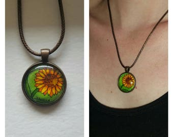 Sunflower Pendant