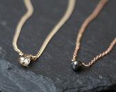 Simple Diamond Briolette Necklace