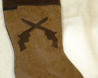 Crossed Pistols Western Christmas Stocking More Styles and Colors