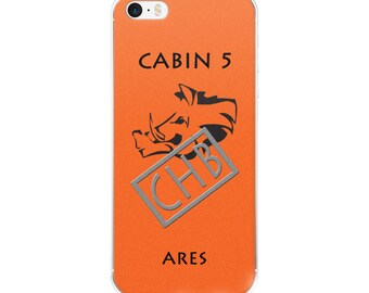 Camp Half-Blood Inspired Percy Jackson Cabin 5 Ares iPhone Case