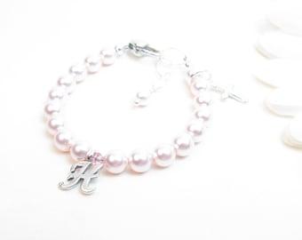 Personalized Baby Bracelet - Baby Girl Bracelet - Christening Bracelet - Baptism Bracelet - Little Girl Bracelet - Pink Baby Bracelet