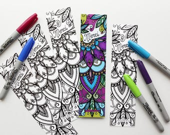 Thank you bookmark, bookmark coloring, thank you gift, thinking, say thank you