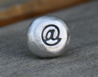 Tie Tack - Lapel Pin - At Symbol