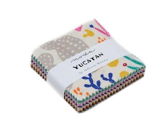 Moda Mini Charm Pack, Yucatan by Annie Brady for Moda Fabrics, Fabric Scraps, 16710MC