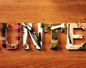 Woodland/Hunting Wooden Letters