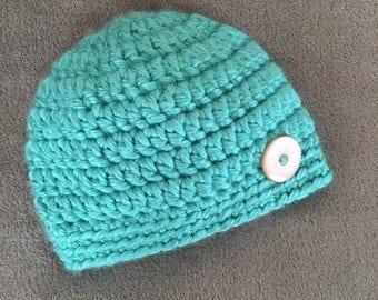 Crochet Baby Beanie (6-12mos.)